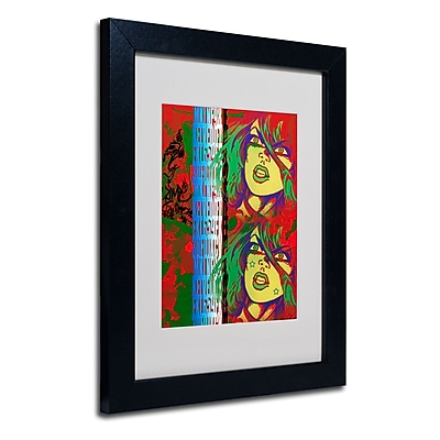 Trademark Fine Art Miguel Paredes 'Red' Matted Art Black Frame 11x14 Inches