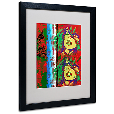 Trademark Fine Art Miguel Paredes 'Red' Matted Art Black Frame 16x20 Inches