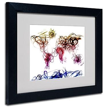 Trademark Fine Art Michael Tompsett 'Light Writing World Map' Matted Art Black Frame 16x20 Inches