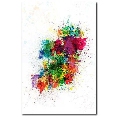 Trademark Fine Art Michael Tompsett 'Ireland Paint Splashes' Canvas Art 30x47 Inches