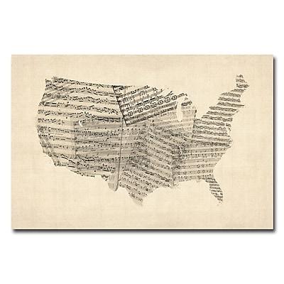 Trademark Fine Art Michael Tompsett 'France-Cities Text Map' Canvas Art