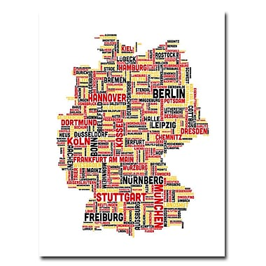 Trademark Fine Art Michael Tompsett 'Germany I' Canvas Art 35x47 Inches