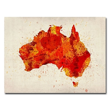 Trademark Fine Art Michael Tompsett 'Australia-Paint Splashes' Canvas Art 24x32 Inches