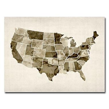 Trademark Fine Art Michael Tompsett 'US-Watercolor' Canvas Art 24x32 Inches