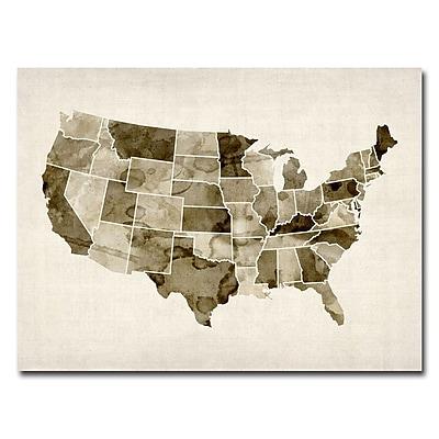 Trademark Fine Art Michael Tompsett 'US-Watercolor' Canvas Art 30x47 Inches