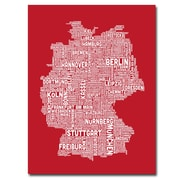 "Trademark Fine Art 'Germany City Map I' 24"" x 32"" Canvas Art"