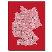 "Trademark Fine Art 'Germany City Map I' 24"" x 32"" Canvas Art"