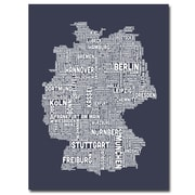"Trademark Fine Art 'Germany City Map II' 35"" x 47"" Canvas Art"