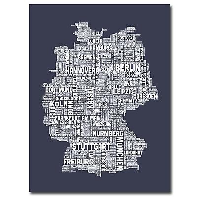 Trademark Fine Art 'Germany City Map II' 35
