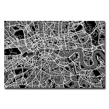 Trademark Fine Art Michael Tompsett 'London Street Map I' Canvas Art 16x24 Inches