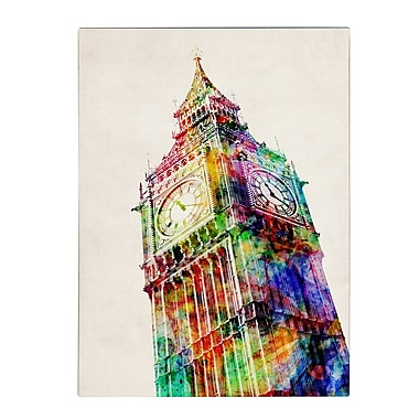 Michael Tompsett 'Big Ben' Matted Framed Art - 11x14 Inches - Wood Frame