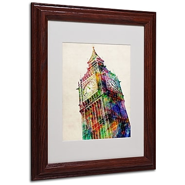 Michael Tompsett 'Big Ben' Matted Framed Art - 16x20 Inches - Wood Frame