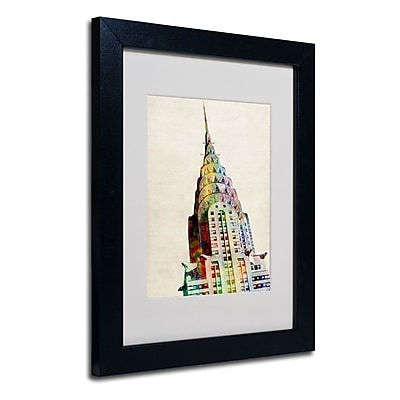 Trademark Fine Art Michael Tompsett 'Chrysler Building' Matted Art Black Frame 16x20 Inches