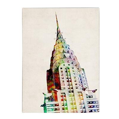 Michael Tompsett 'Chrysler Building' Matted Framed Art - 11x14 Inches - Wood Frame