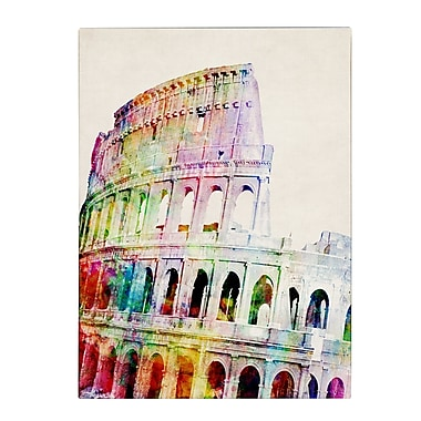 Trademark Fine Art Michael Tompsett 'Colosseum' Canvas Art 18x24 Inches