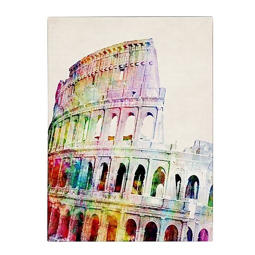 Michael Tompsett 'Colosseum' Matted Framed Art - 11x14 Inches - Wood Frame