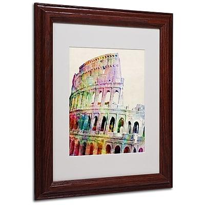 Michael Tompsett 'Colosseum' Matted Framed Art - 16x20 Inches - Wood Frame