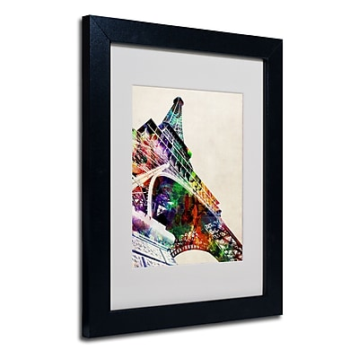 Trademark Fine Art Michael Tompsett 'Eiffel Tower' Matted Art Black Frame 11x14 Inches