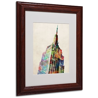 Michael Tompsett 'Empire State' Matted Framed Art - 16x20 Inches - Wood Frame