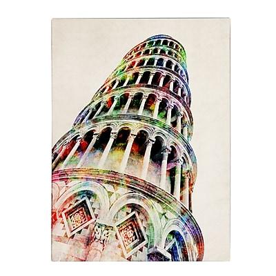 Trademark Fine Art Michael Tompsett 'Leaning Tower Pisa' Canvas Art 24x32 Inches