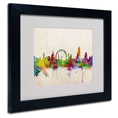 Trademark Fine Art Michael Tompsett 'London Skyline' Matted Art Black Frame 16x20 Inches