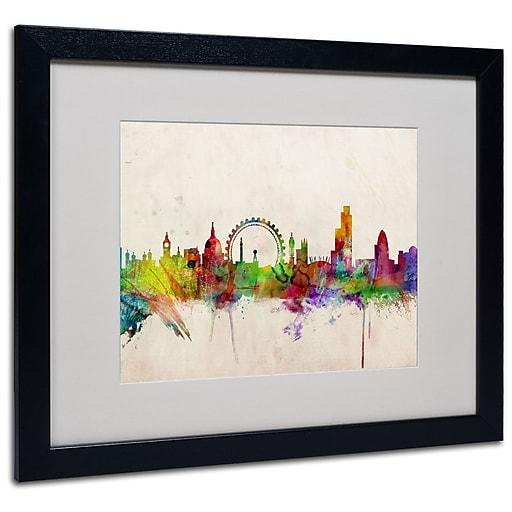 Trademark Fine Art Michael Tompsett 'London Skyline' Canvas Art 14x19 Inches