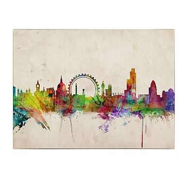 Trademark Fine Art Michael Tompsett 'London Skyline' Canvas Art 22x32 Inches