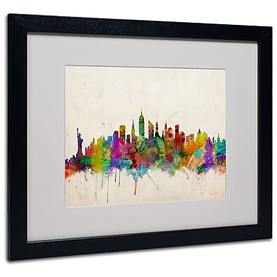 Trademark Fine Art Michael Tompsett 'New York Skyline' Canvas Art 14x19 Inches