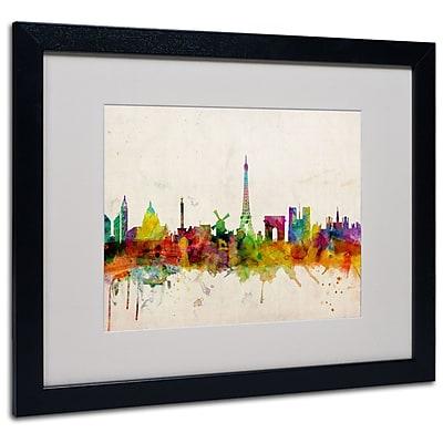 Trademark Fine Art Michael Tompsett 'Paris Skyline' Canvas Art 14x19 Inches