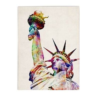 Michael Tompsett 'Statue of Liberty' Matted Framed Art - 11x14 Inches - Wood Frame