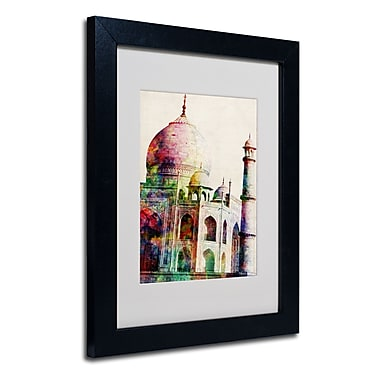 Trademark Fine Art Michael Tompsett 'Taj Mahal' Matted Art Black Frame 16x20 Inches