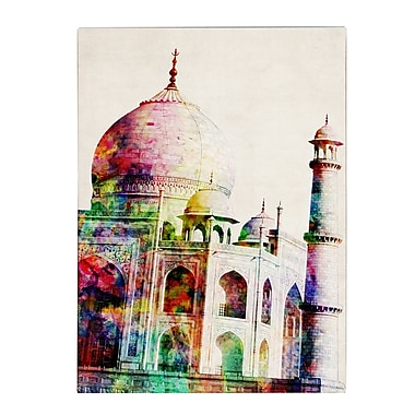 Trademark Fine Art Michael Tompsett 'Taj Mahal' Canvas Art 35x47 Inches