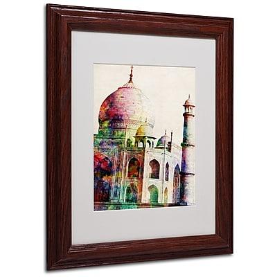 Michael Tompsett 'Taj Mahal' Framed Matted Art - 16x20 Inches - Wood Frame