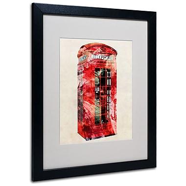 Trademark Fine Art Michael Tompsett 'Telephone Box' Canvas Art 14x19 Inches