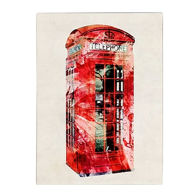 Trademark Fine Art Michael Tompsett 'Telephone Box' Canvas Art 35x47 Inches