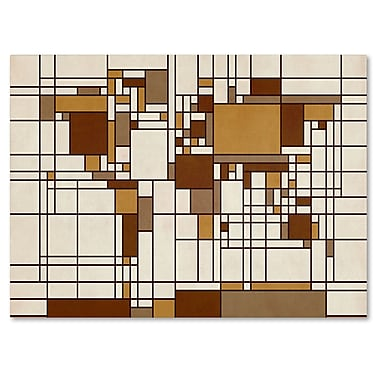 Trademark Fine Art Michael Tompsett 'Mondrian World Map' Canvas Art 16x24 Inches