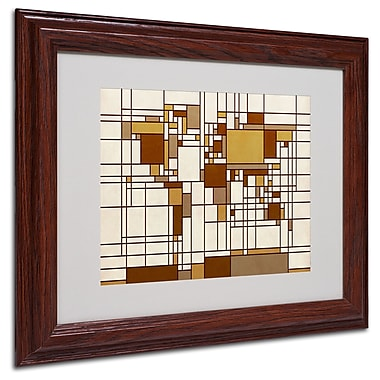 Michael Tompsett 'Mondrian World Map' Matted Framed Art - 16x20