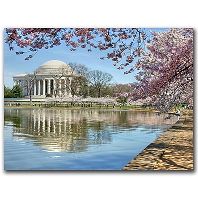 Trademark Fine Art Jefferson Memorial by CATeyes Canvas Ready to Hang 26x32 Inches