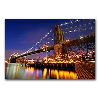 Trademark Fine Art City of Dreamers by CATeyes Canvas Ready to Hang 16x24 Inches