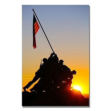 Trademark Fine Art CATeyes 'Believe in America' Canvas Art 16x24 Inches