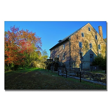 Trademark Fine Art CATeyes 'Old Mill' Canvas Art 35x47 Inches