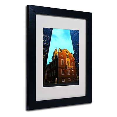 Trademark Fine Art CATeyes 'Boston' Matted Art Black Frame 11x14 Inches