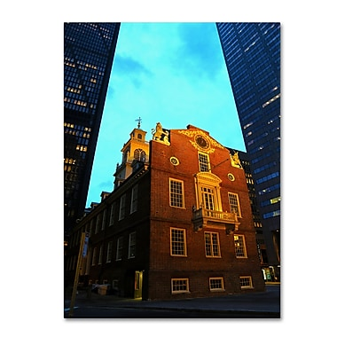 Trademark Fine Art CATeyes 'Boston' Canvas Art 16x24 Inches