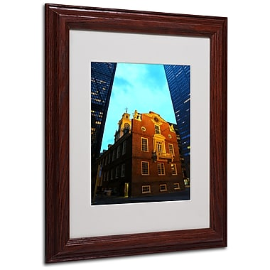 CATeyes 'Boston' Matted Framed Art - 11x14 Inches - Wood Frame