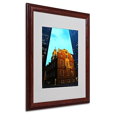 CATeyes 'Boston' Matted Framed Art - 16x20 Inches - Wood Frame