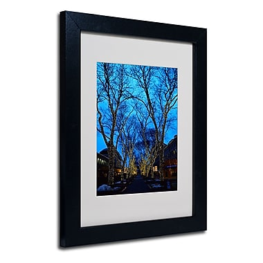 Trademark Fine Art CATeyes 'Boston 2' Matted Art Black Frame 11x14 Inches