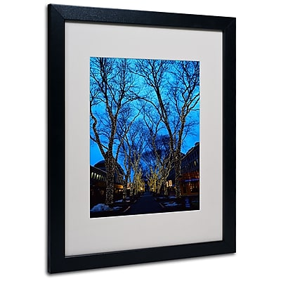 Trademark Fine Art CATeyes 'Boston 2' Matted Art Black Frame 16x20 Inches