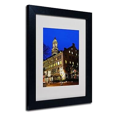 Trademark Fine Art CATeyes 'Boston 3' Matted Art Black Frame 11x14 Inches