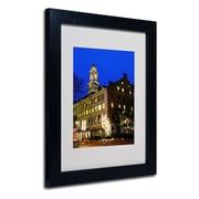 Trademark Fine Art CATeyes 'Boston 3' Matted Framed Art