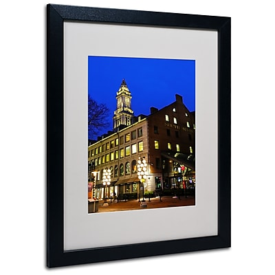 Trademark Fine Art CATeyes 'Boston 3' Matted Art Black Frame 16x20 Inches